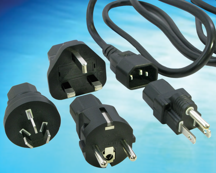 International Changeable Power Cord/Plug kit allows the use of a single PN/SKU for all international cord options, PN  705-701-KIT(R)