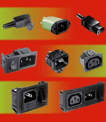 Power IEC 320 Inlets and Rewireable Plugs